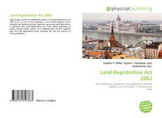 Land Registration Act 2002 kitap kapağı