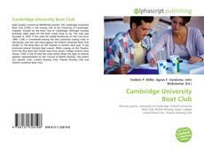 Capa do livro de Cambridge University Boat Club
