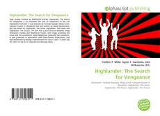 Bookcover of Highlander: The Search for Vengeance