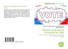 Buchcover von Élections Législatives Françaises de 1986