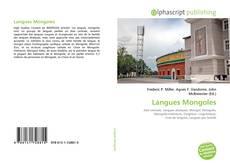 Couverture de Langues Mongoles