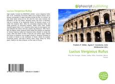 Bookcover of Lucius Verginius Rufus
