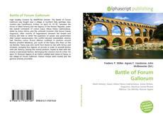 Battle of Forum Gallorum kitap kapağı