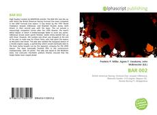 Bookcover of BAR 002