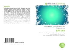 Bookcover of BAR 003
