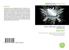 Bookcover of BAR 007