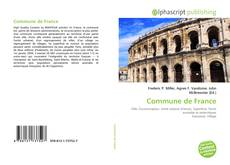 Capa do livro de Commune de France