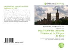 Обложка Déclaration des Droits de l'Homme et du Citoyen de 1789