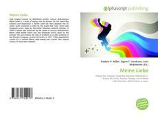 Capa do livro de Meine Liebe