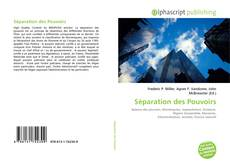 Обложка Séparation des Pouvoirs