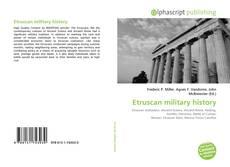 Couverture de Etruscan military history