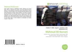 Обложка Mahmud Ali Durrani