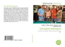 Bookcover of Cue sports techniques