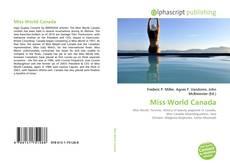 Обложка Miss World Canada
