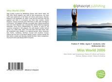 Обложка Miss World 2006