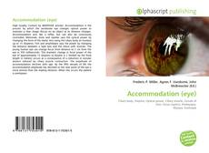 Copertina di Accommodation (eye)