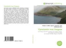 Capa do livro de Constantín mac Fergusa