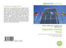 Bookcover of Hegemonic Stability Theory
