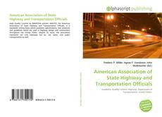 Portada del libro de American Association of State Highway and Transportation Officials