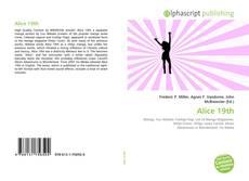 Buchcover von Alice 19th