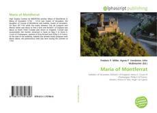 Portada del libro de Maria of Montferrat