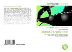 Bookcover of Intolerable Cruelty (Film)