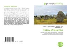 Bookcover of History of Mauritius