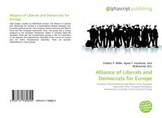 Bookcover of Alliance of Liberals and Democrats for Europe