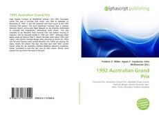 Обложка 1992 Australian Grand Prix