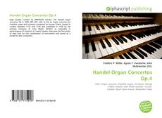 Bookcover of Handel Organ Concertos Op.4