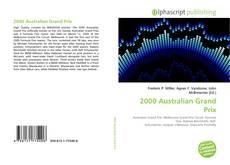Capa do livro de 2000 Australian Grand Prix