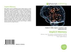 Bookcover of Implicit Memory