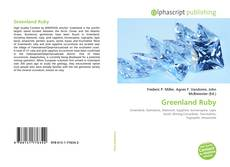 Bookcover of Greenland Ruby