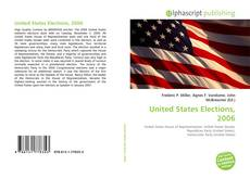 Bookcover of United States Elections, 2006
