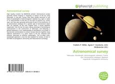 Bookcover of Astronomical survey