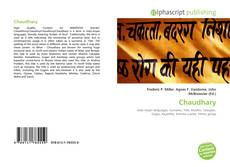 Bookcover of Chaudhary