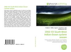Bookcover of 2002–03 South-West Indian Ocean cyclone season