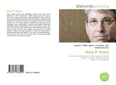 Bookcover of Hans P. Kraus