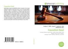 Bookcover of Causation (law)