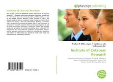Bookcover of Institute of Cetacean Research