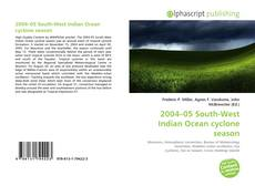 Portada del libro de 2004–05 South-West Indian Ocean cyclone season