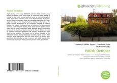 Bookcover of Polish October