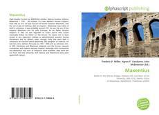 Bookcover of Maxentius