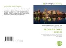 Bookcover of McCormick, South Carolina