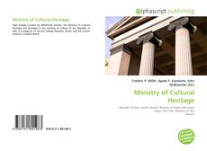 Bookcover of Ministry of Cultural Heritage