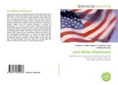 Jack Miller (Politician) kitap kapağı