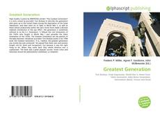 Bookcover of Greatest Generation