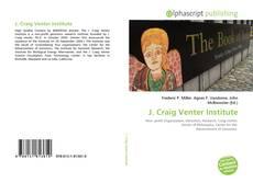 Bookcover of J. Craig Venter Institute