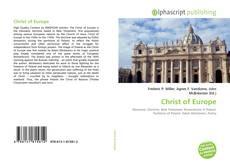Christ of Europe kitap kapağı
