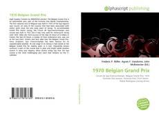 1970 Belgian Grand Prix kitap kapağı